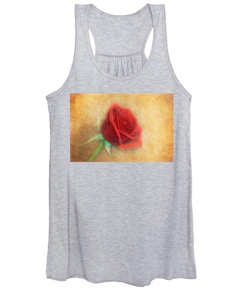 Red Rose  Women's Tank Top