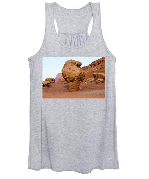Rock Formations In A Desert, Vermilion Women's Tank Top