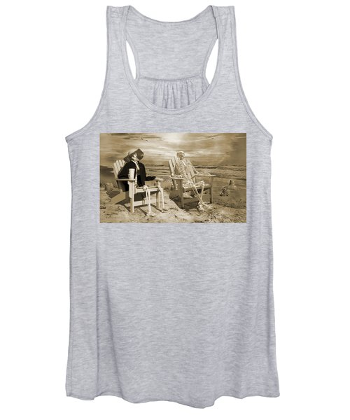 Sam Exchanges Tales With An Old Friend Women's Tank Top