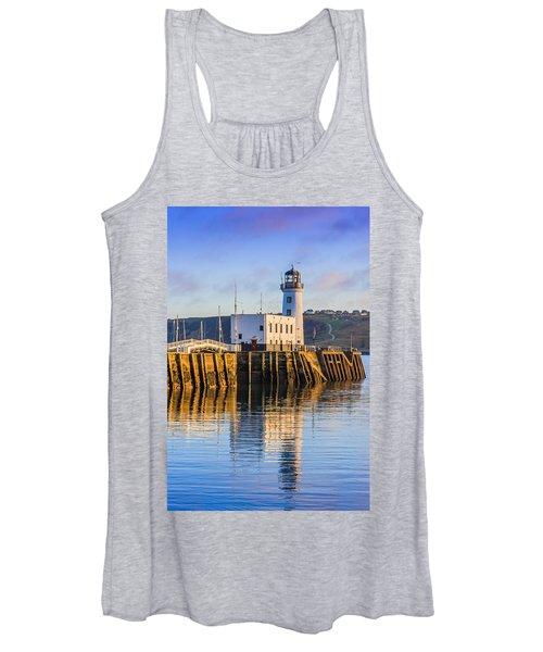 Sunset Over Scarborough Lighthouse Women's Tank Top