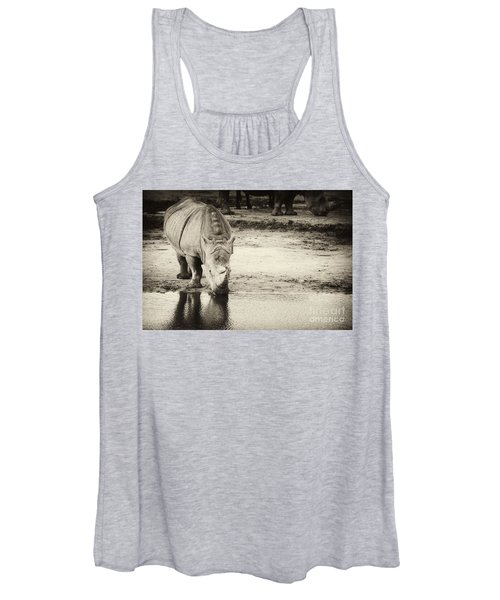 Two White Rhinos  Women's Tank Top