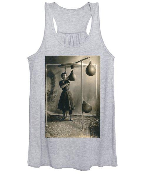 Woman Boxing Workout Women's Tank Top