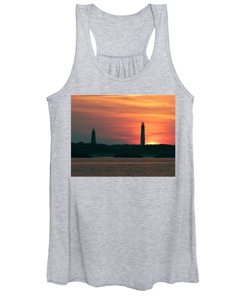 Women's Tank Top featuring the photograph Cape Henry Lighthouses by Pete Federico