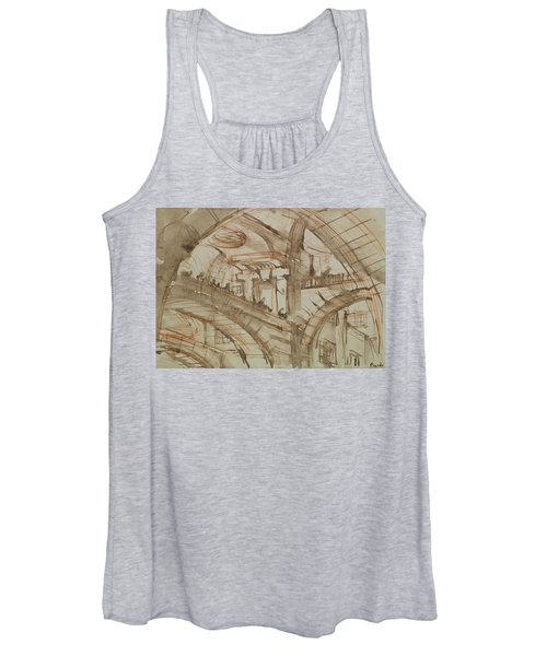Drawing Of An Imaginary Prison Women's Tank Top