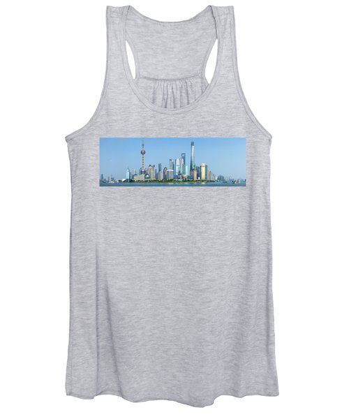 Skylines At The Waterfront, Oriental Women's Tank Top
