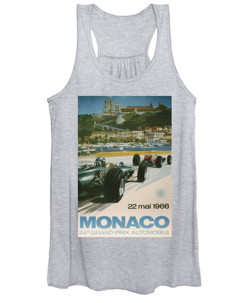 24th Monaco Grand Prix 1966 Women's Tank Top