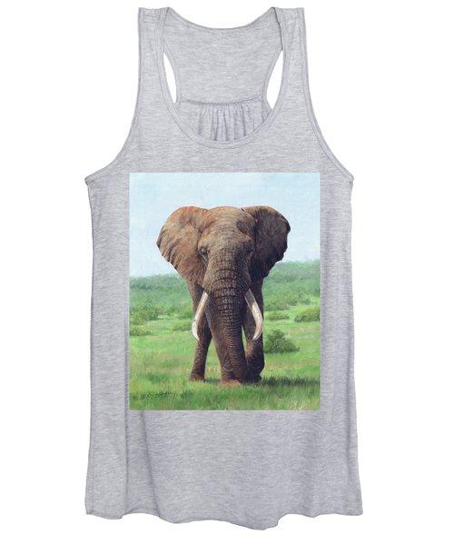 African Elephant Women's Tank Top