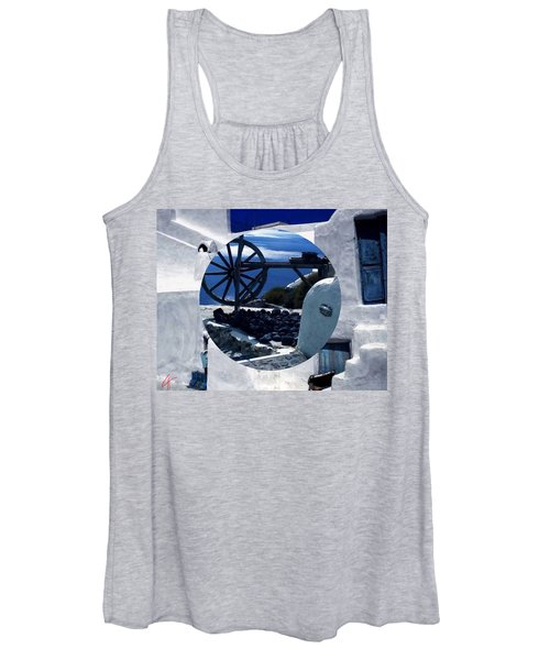 Santorini Island Greece Women's Tank Top