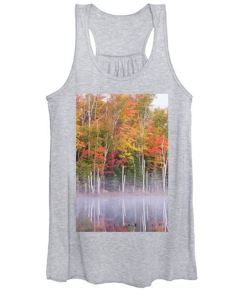 Reflection Of Trees In A Lake Women's Tank Top