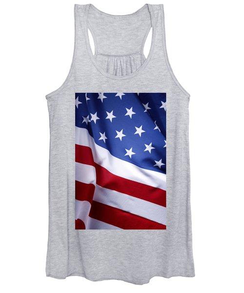 American Flag 50 Women's Tank Top