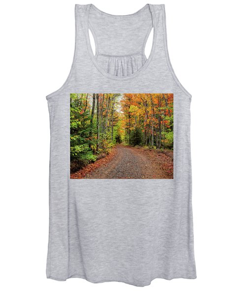 Dirt Road Passing Through A Forest Women's Tank Top