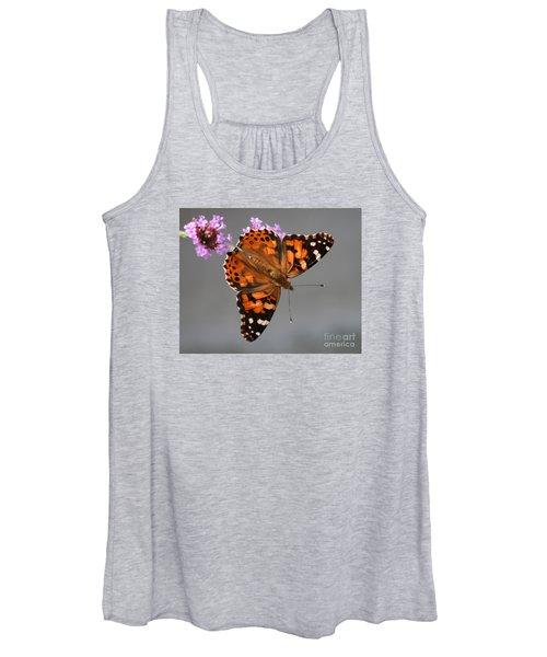 American Painted Lady Butterfly Women's Tank Top