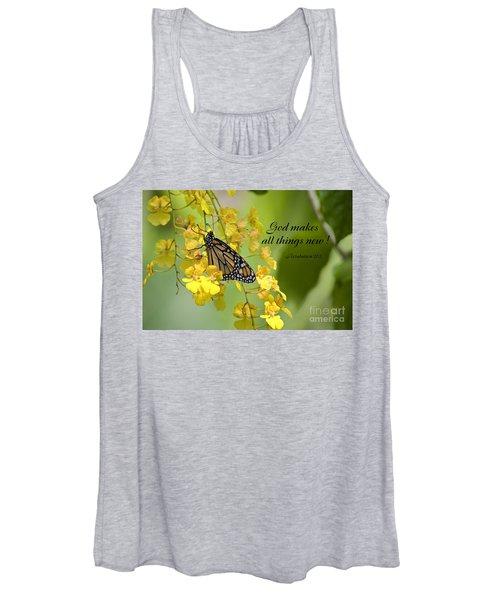 Butterfly Scripture Women's Tank Top