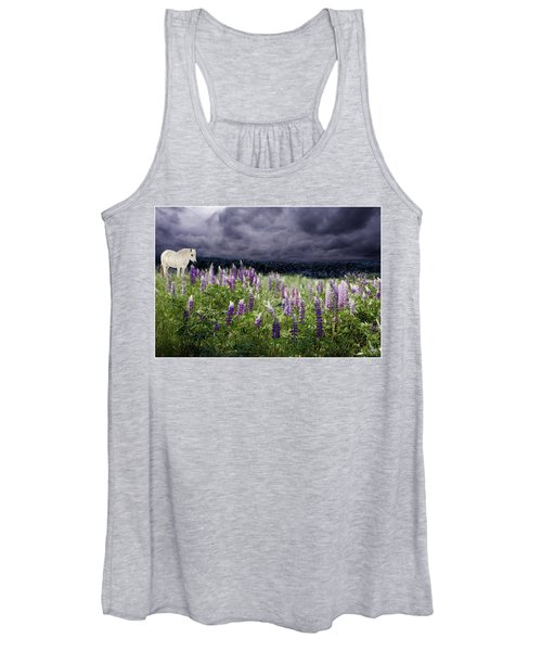 A Childs Dream Among Lupine Women's Tank Top