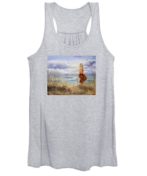 A Girl And The Ocean Women's Tank Top