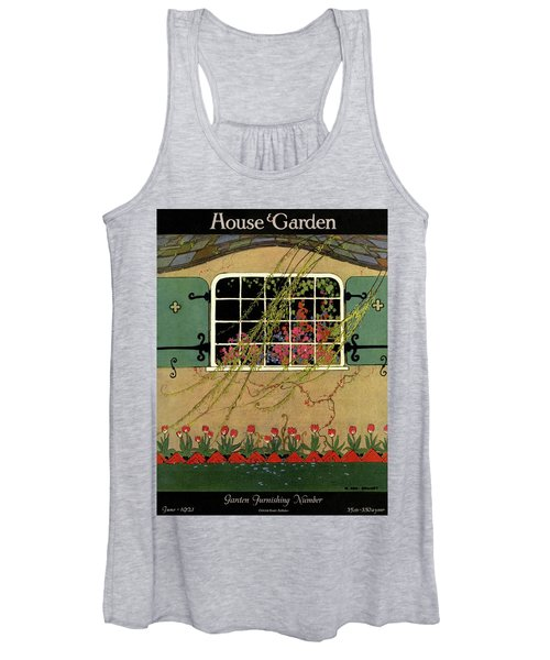 A House And Garden Cover Of A Window Women's Tank Top