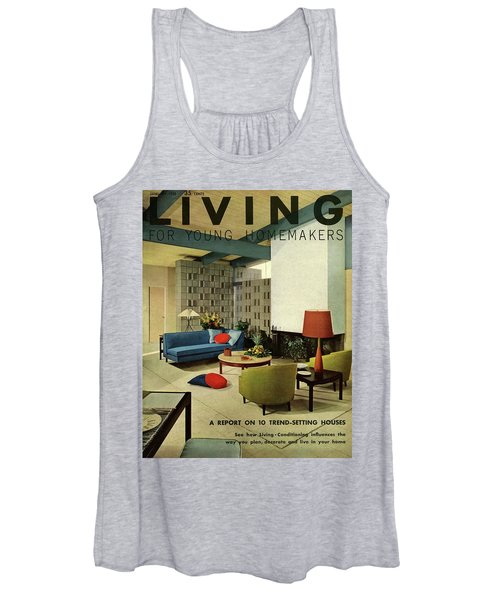 A Living Room With Carpeting By Callaway Women's Tank Top