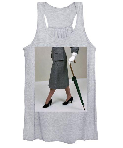 A Model Holding An Umbrella Women's Tank Top