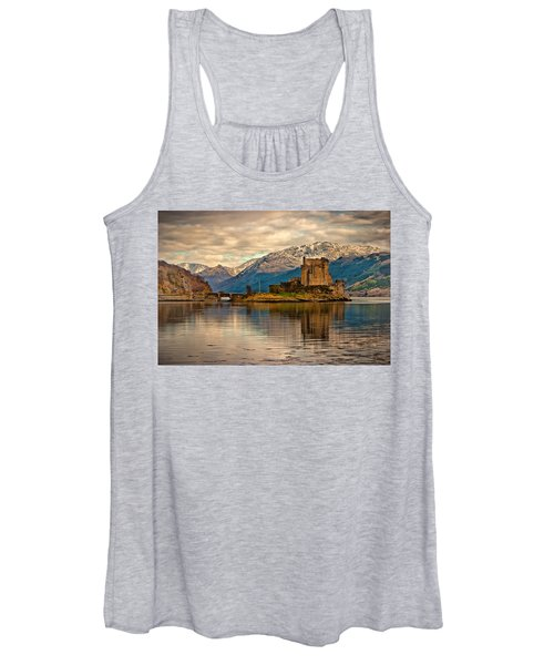 A Reflection At Eilean Donan Castle Women's Tank Top