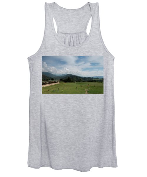 A Soccer Match On A Sunny Day Women's Tank Top