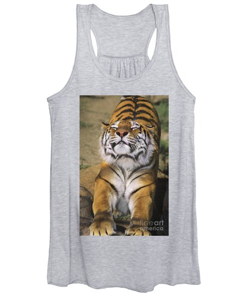A Tough Day Siberian Tiger Endangered Species Wildlife Rescue Women's Tank Top