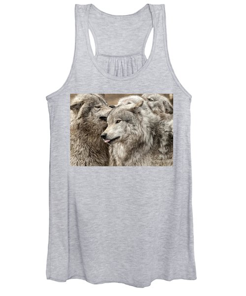 Adult Timber Wolf Women's Tank Top