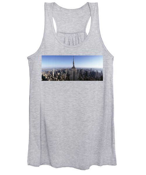 Aerial View Of A Cityscape, Empire Women's Tank Top