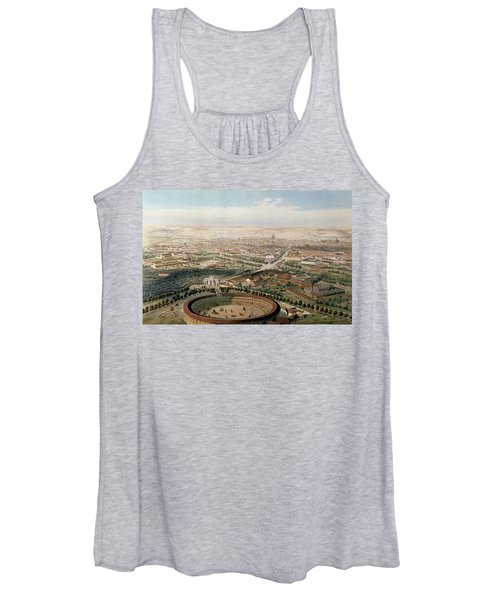 Aerial View Of Madrid From The Plaza De Toros Women's Tank Top