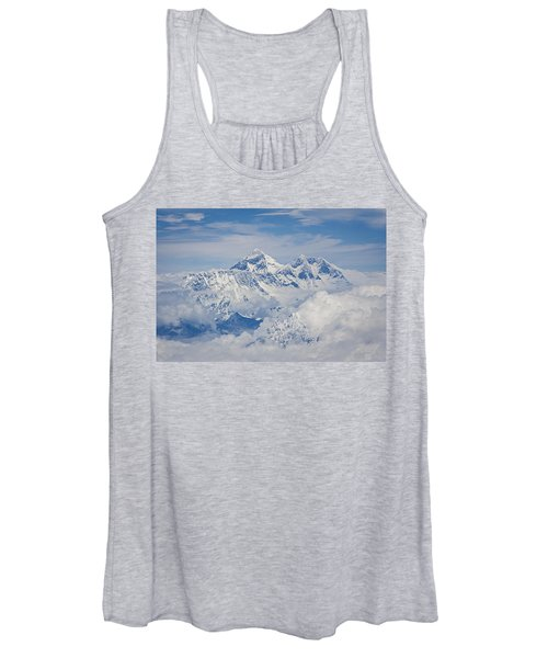 Aerial View Of Mount Everest, Nepal, 2007 Women's Tank Top