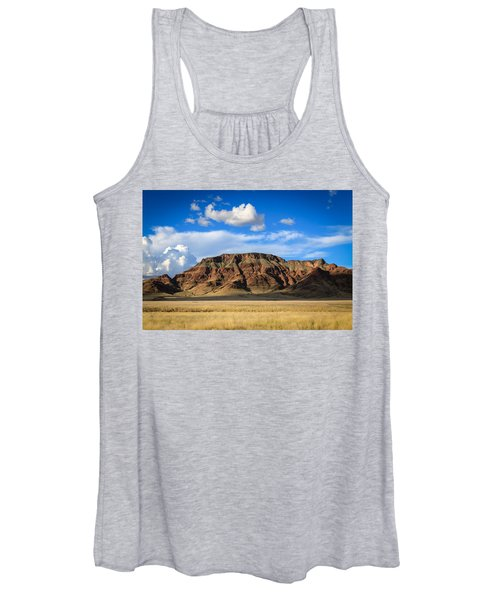 Aferican Grass And Mountain In Sossusvlei Women's Tank Top