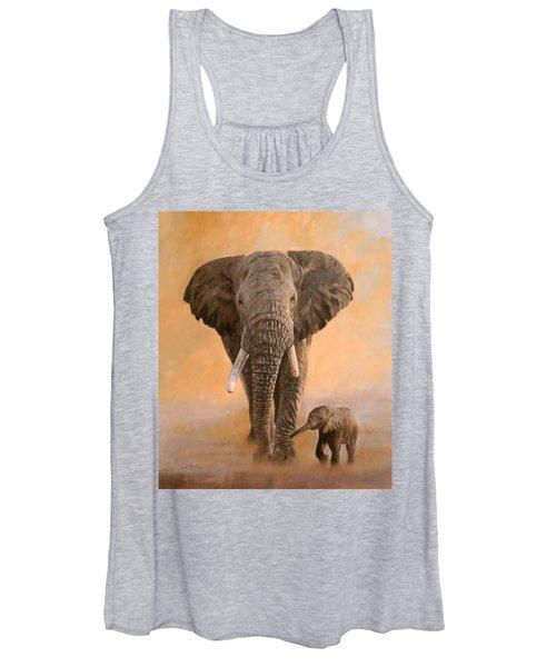 African Elephants Women's Tank Top
