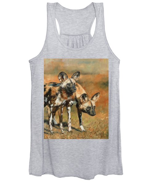 African Wild Dogs Women's Tank Top