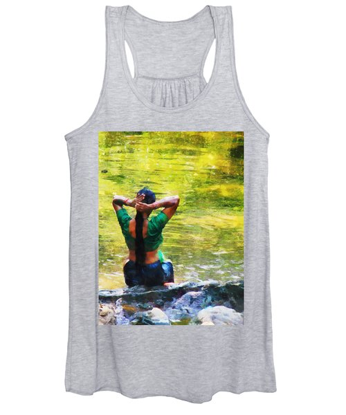 After The River Bathing. Indian Woman. Impressionism Women's Tank Top