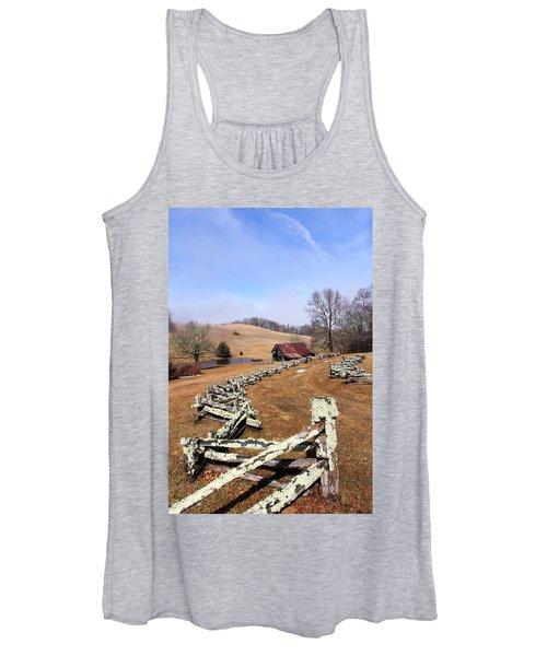 Along The Locust Rails Women's Tank Top