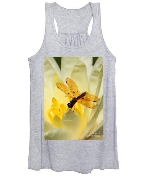 Amber Dragonfly Dancer Women's Tank Top