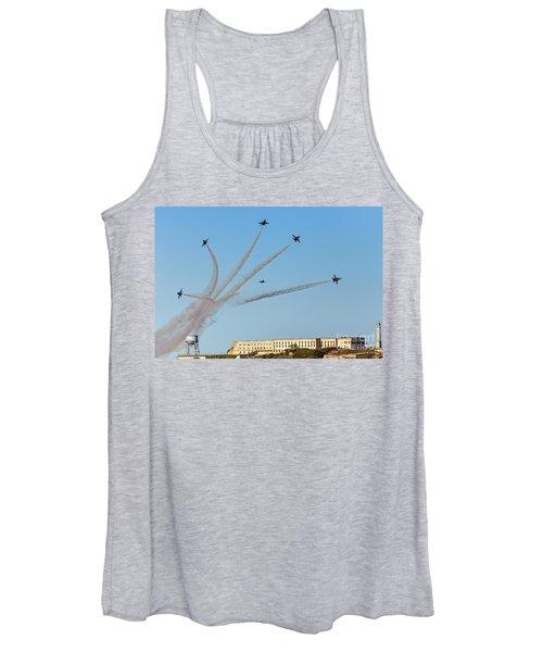 Angels Over Alcatraz Women's Tank Top