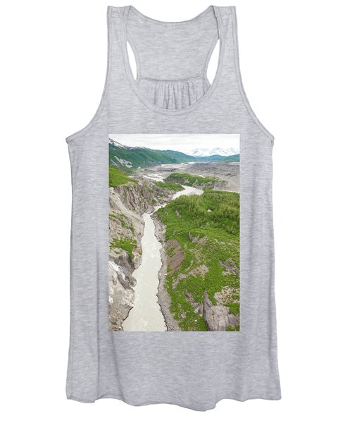 Arial View Of Turnback Canyon, Alsek Women's Tank Top