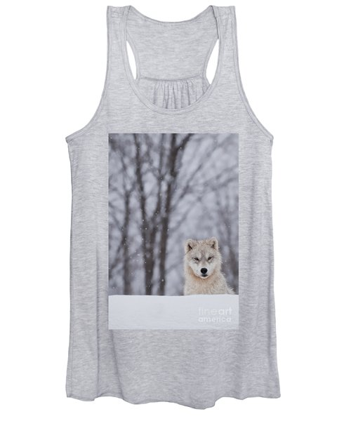 Artic Wolf Pup Women's Tank Top