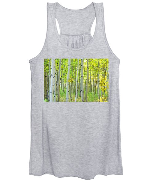Aspen Tree Forest Autumn Time  Women's Tank Top