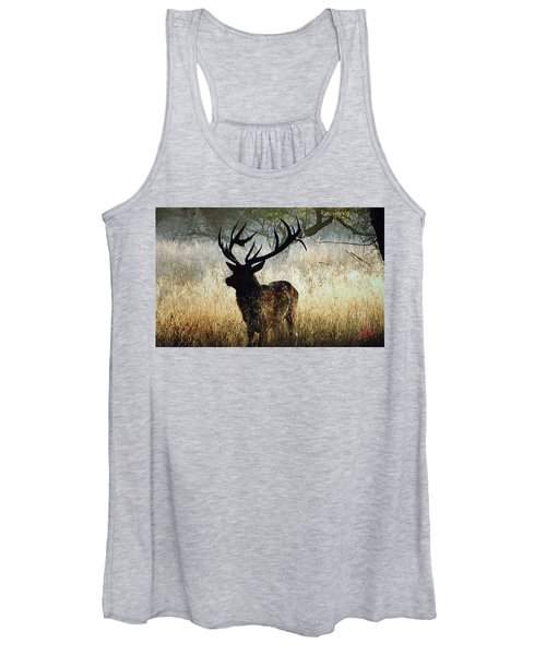 Women's Tank Top featuring the photograph Autumn Forest Walk In Denmark  by Colette V Hera  Guggenheim
