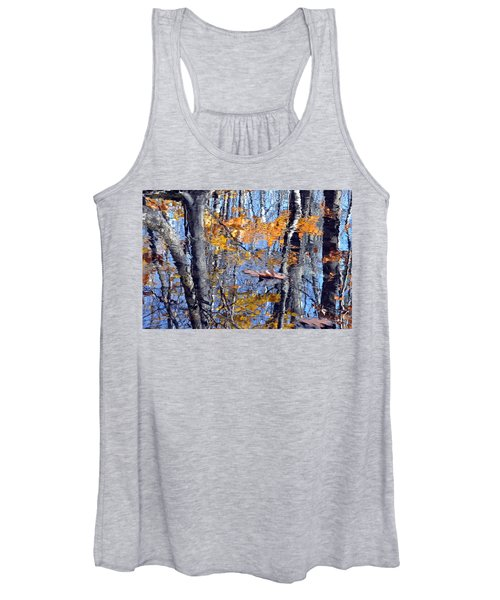 Autumn Reflection With Leaf Women's Tank Top