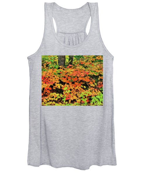 Autumn Trees In A Forest, Keweenaw Women's Tank Top