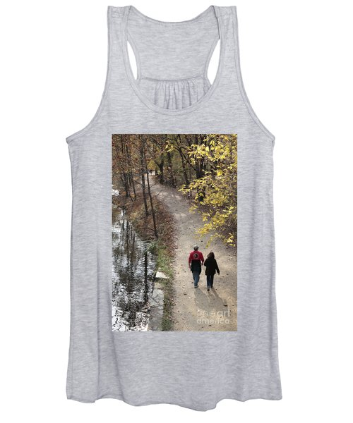 Autumn Walk On The C And O Canal Towpath Women's Tank Top