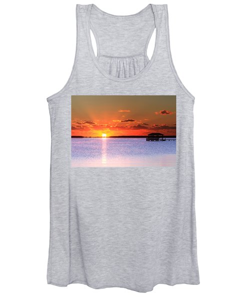 Women's Tank Top featuring the photograph Back Bay Sunrise by Pete Federico