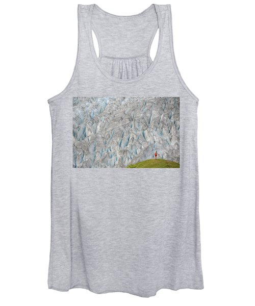 Backpacker Hikes The Harding Icefield Women's Tank Top