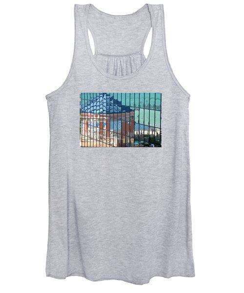 Women's Tank Top featuring the photograph Bahamas Beach Pavilion by Rick Locke