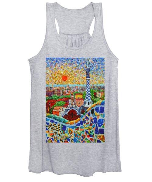 Barcelona Sunrise - Guell Park - Gaudi Tower Women's Tank Top