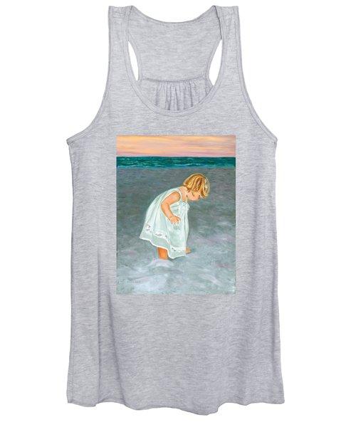 Beach Baby In White Women's Tank Top