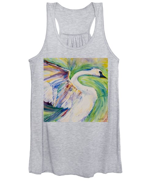 Beauty And Grace - Original Watercolor Painting Women's Tank Top