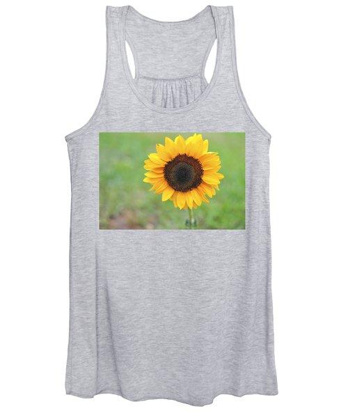 Big Bright Yellow Colorful Sunflower Art Print Women's Tank Top